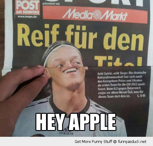 hey apple news paper football soccer player annoying orange funny pics pictures pic picture image photo images photos lol