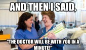 doctor nurse meme in a minute funny pics pictures pic picture image photo images photos lol