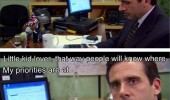 micheal the office little kid lover dating site tv scene funny pics pictures pic picture image photo images photos lol