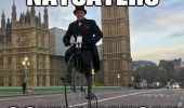 old man bike penny farthing naysayers london funny pics pictures pic picture image photo images photos lol
