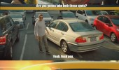 two parking spaces god bless america movie scene funny pics pictures pic picture image photo images photos lol