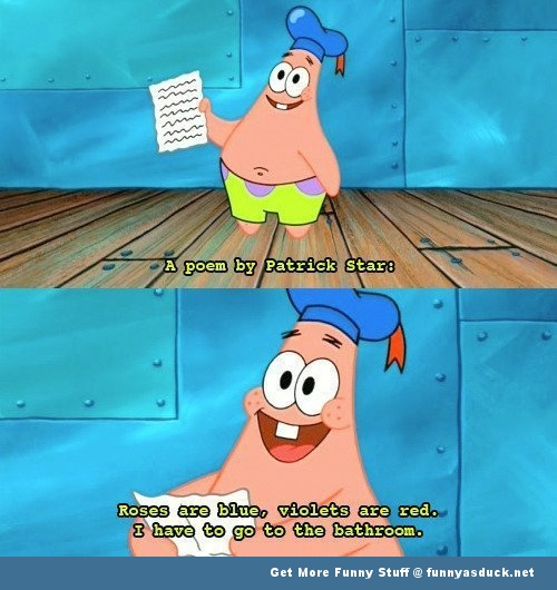 patrick spongebob Nickelodeon poem scene tv funny pics pictures pic picture image photo images photos lol