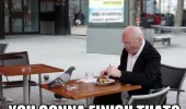 finish that pigeon man table food funny pics pictures pic picture image photo images photos lol