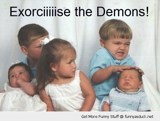 exorcise the demon kid boy baby funny pics pictures pic picture image photo images photos lol