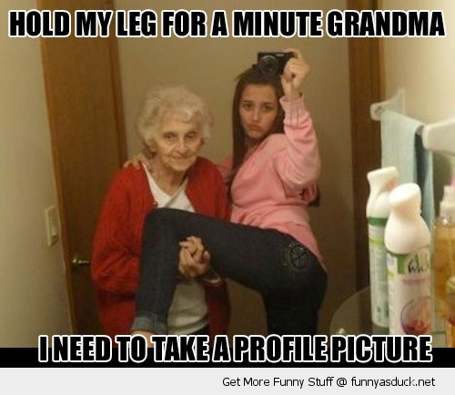 funny-profile-grandma-leg-selfie-iphone-