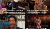 Ross Rachel friends engagement ring tv scene funny pics pictures pic picture image photo images photos lol