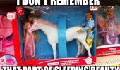 sleeping beauty toy horse rude disney funny pics pictures pic picture image photo images photos lol