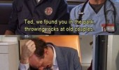 scrubs tv scene janitor jd ted old people happy funny pics pictures pic picture image photo images photos lol