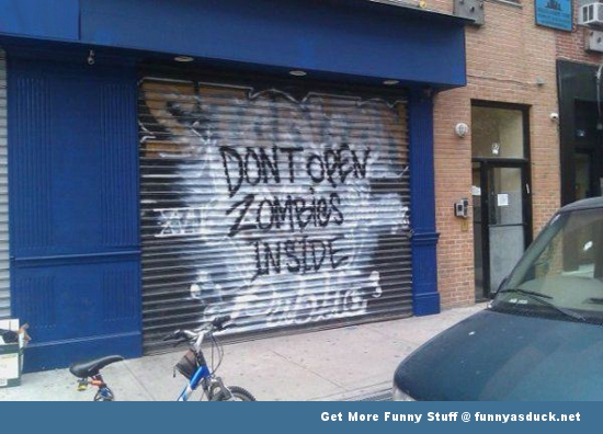 zombies inside seems legit garage funny pics pictures pic picture image photo images photos lol