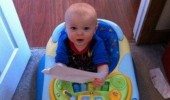 baby kid walker just in shit myself funny pics pictures pic picture image photo images photos lol