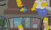 simpsons tv scene bart homer taxi funny pics pictures pic picture image photo images photos lol