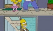 simpsons homer lisa smoking tv scene funny pics pictures pic picture image photo images photos lol