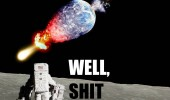 shit spaceman earth exploded moon funny pics pictures pic picture image photo images photos lol