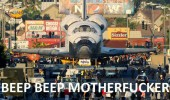 spaceship shuttle beep road cars funny pics pictures pic picture image photo images photos lol