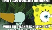 awkward moment teacher spongebob funny pics pictures pic picture image photo images photos lol