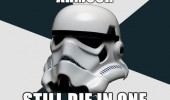 star wars storm trooper die one shot funny pics pictures pic picture image photo images photos lol