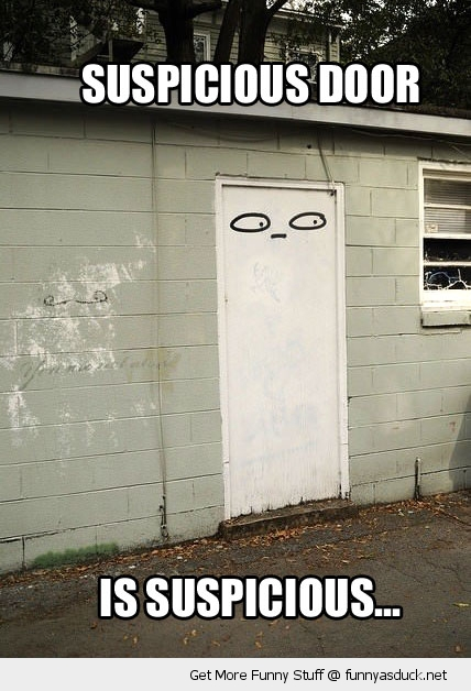 suspicious door eyes building funny pics pictures pic picture image photo images photos lol