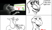 t-rext dinosaur rage comic meme funny pics pictures pic picture image photo images photos lol