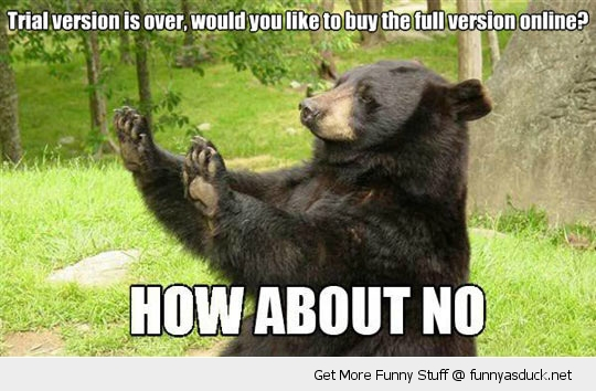 how about no bear trial software animal funny pics pictures pic picture image photo images photos lol