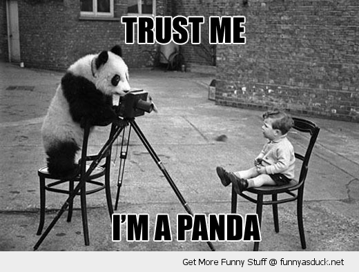 trust me panda animal photographer kid boy funny pics pictures pic picture image photo images photos lol