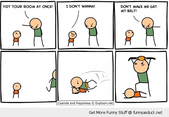 cyanide and happiness comic kid belt funny pics pictures pic picture image photo images photos lol
