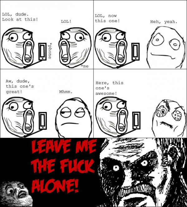annoying phone guy iphone leave me alone rage comic meme funny pics pictures pic picture image photo images photos lol