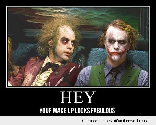 beetlejuice joker batman movie film make up looks fabulous funny pics pictures pic picture image photo images photos lol