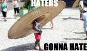 haters gonna hate kid boy mexican big huge hat sombrero funny pics pictures pic picture image photo images photos lol