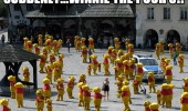 suddenly city square center winnie the pooh people costumes funny pics pictures pic picture image photo images photos lol