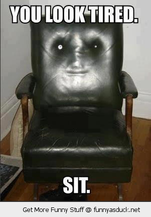 creepy chair face look tired sit down funny pics pictures pic picture image photo images photos lol