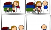 cyanide happiness comic woman kids help baggage thanks funny pics pictures pic picture image photo images photos lol