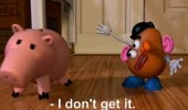 toy story movie scene disney pixar potato head picasso face pig uncultured swine funny pics pictures pic picture image photo images photos lol