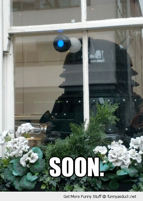 soon dalek doctor who window watching funny pics pictures pic picture image photo images photos lol