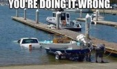 doing it wrong truck water trailer boat funny pics pictures pic picture image photo images photos lol