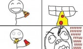 eating pizza cheese topping sliding off bite rage comic meme funny pics pictures pic picture image photo images photos lol
