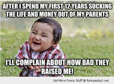 evil kid boy baby plotting meme laughing bad they raised me funny pics pictures pic picture image photo images photos lol