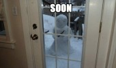 soon evil snowman knife garden christmas winter yard window funny pics pictures pic picture image photo images photos lol