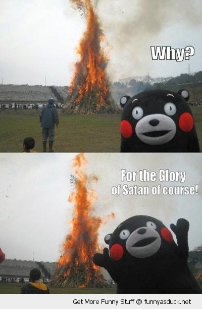 evil toy glory satan bon fire funny pics pictures pic picture image photo images photos lol