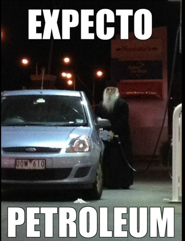expecto petroleum dumbledoor harry potter filing cat gas station funny pics pictures pic picture image photo images photos lol
