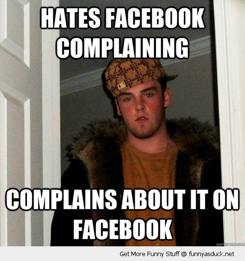 scumbag steve meme complains about facebook funny pics pictures pic picture image photo images photos lol