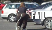 fat woman person toilet paper roll parking lot fail funny pics pictures pic picture image photo images photos lol