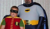 father son halloween costumes batman robin fatmobile tv film funny pics pictures pic picture image photo images photos lol