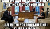 first date obama president white house sasha boy killed bin laden funny pics pictures pic picture image photo images photos lol