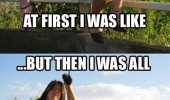 first i was like woman falling of fence funny pics pictures pic picture image photo images photos lol