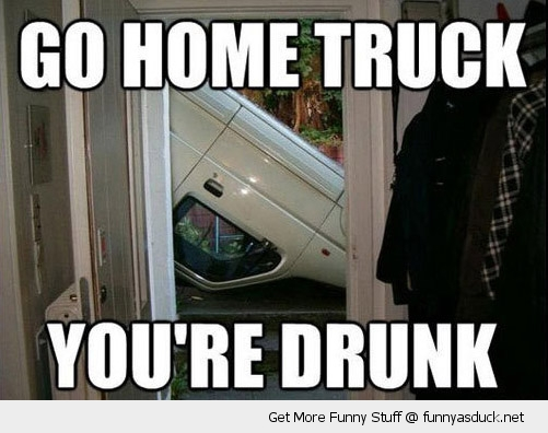 upside down flipped car truck go home drunk door funny pics pictures pic picture image photo images photos lol