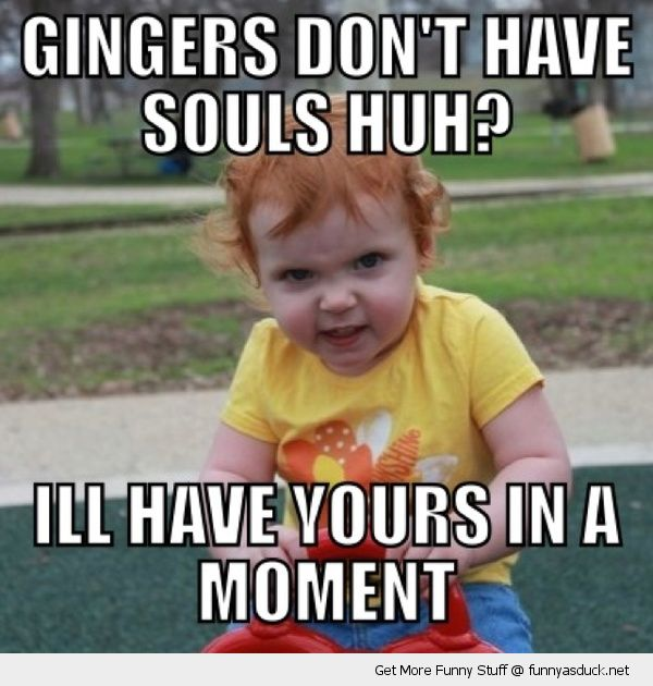 scary kid park playing girl gingers don't have souls have yours moment evil funny pics pictures pic picture image photo images photos lol