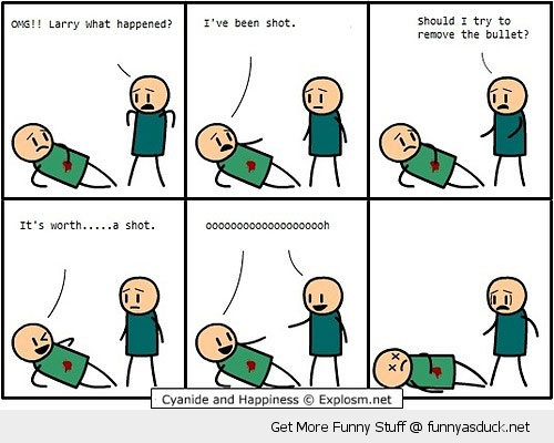 cyanide and happiness comic shot wounded funny pics pictures pic picture image photo images photos lol