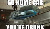 go home car drunk escalator stairs crashed crash funny pics pictures pic picture image photo images photos lol