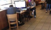 desktop compute mac cafe laptop funny pics pictures pic picture image photo images photos lol