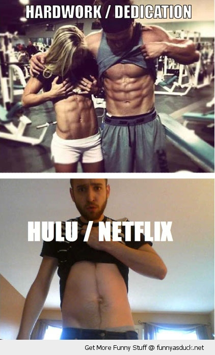guys men six pack abs stomach hard work determination hulu netflix funny pics pictures pic picture image photo images photos lol